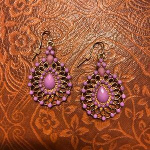 Purple Bohemian Earrings